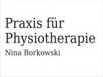 Borkowski Nina Physiotherapie KG und Massage